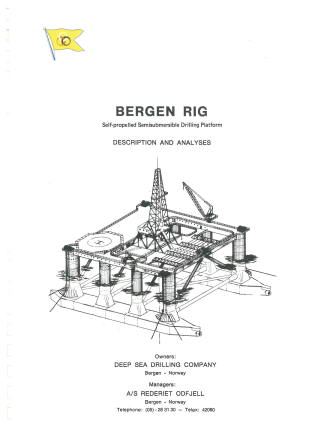 How an offshore drilling contractor ended up in the renewable business The brochure of the first semisubmersible rig in what later became Odfjell Drilling